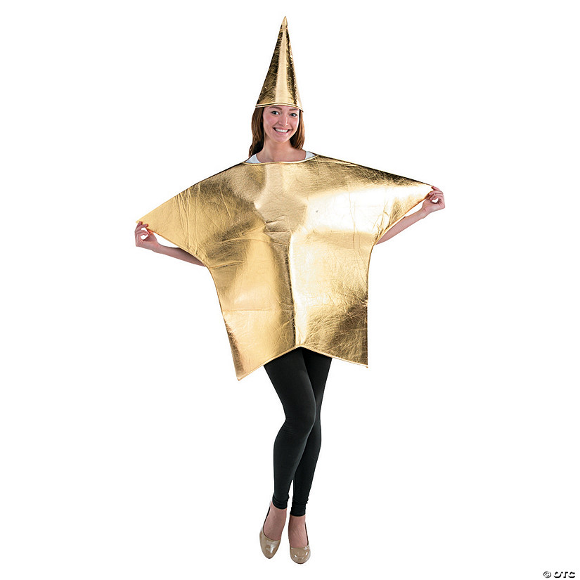 Adult Gold Star Costume - Standard Audio Thumbnail