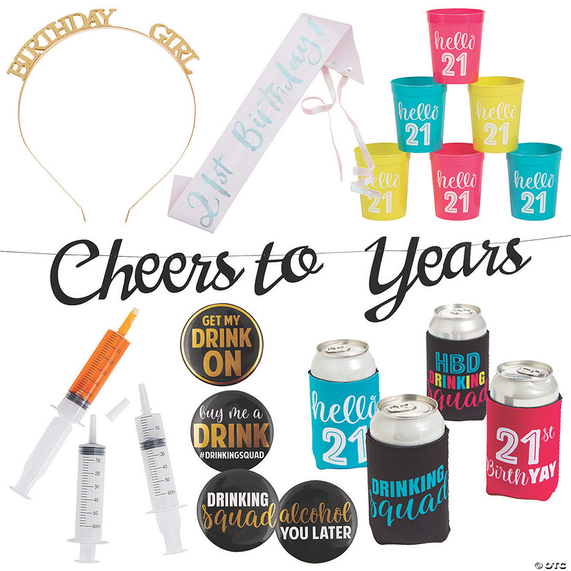 Adult's 21st Birthday Party Kit Image Thumbnail