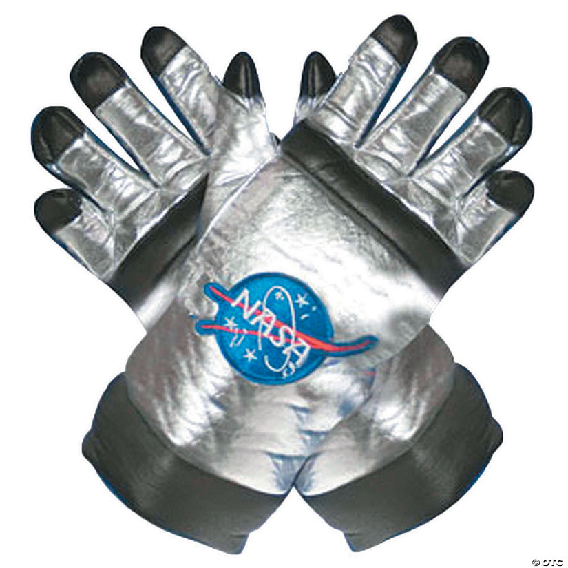 Adult's Astronaut Gloves - Silver Audio Thumbnail