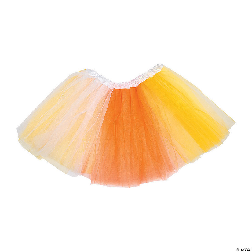 Adult's Candy Corn Halloween Tutu