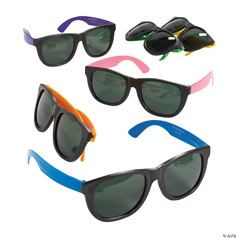 Adult's Cool Neon Sunglasses Image Thumbnail