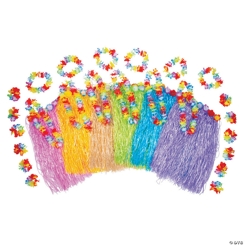 Adult's Multicolor Hula Kits for 12 Image Thumbnail