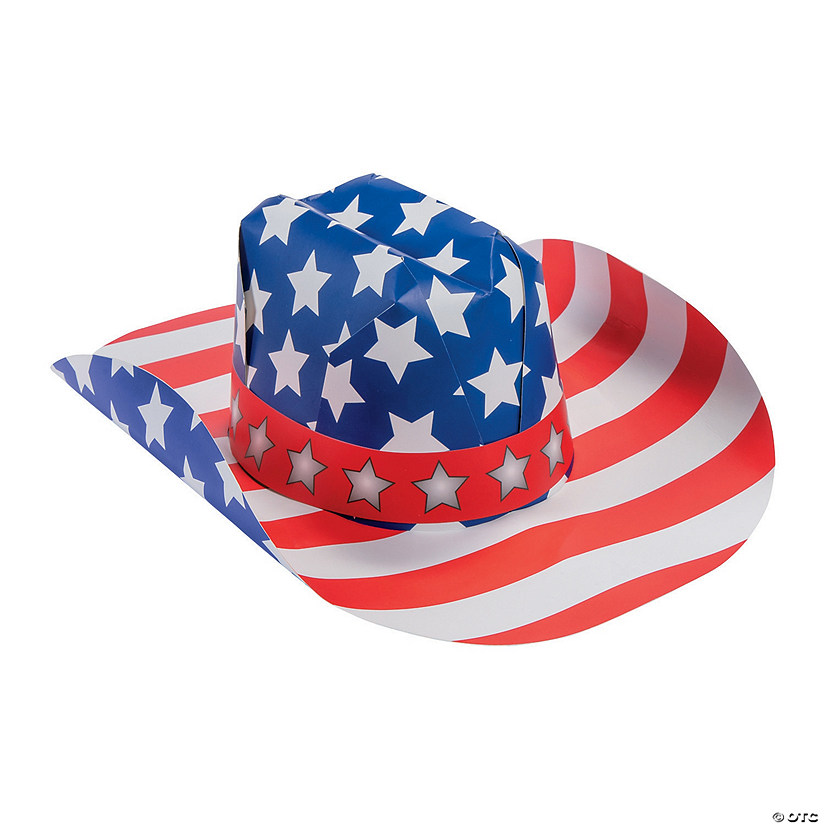 Adult's Patriotic Cardstock Cowboy Hats Audio Thumbnail