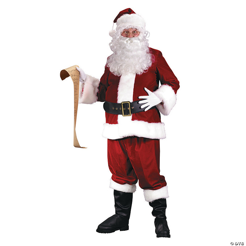 Adult's Ultra Velvet Santa Suit Costume Audio Thumbnail