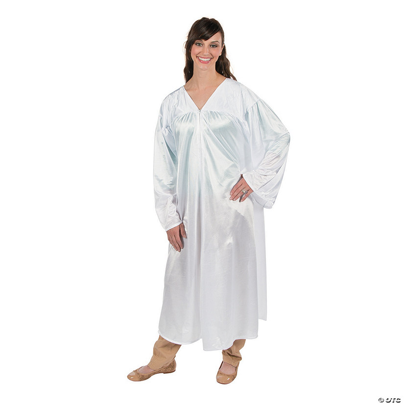 Adult's White Shiny Choir Robe Audio Thumbnail
