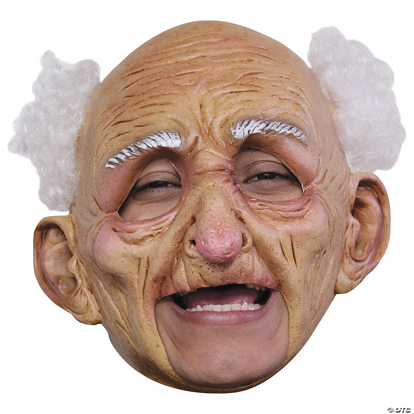 Adult's Deluxe Chinless Old Man Mask