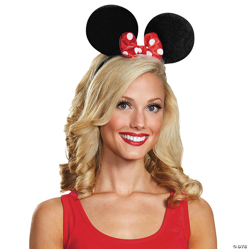 Adults Deluxe Minnie Mouse Ears Oriental Trading