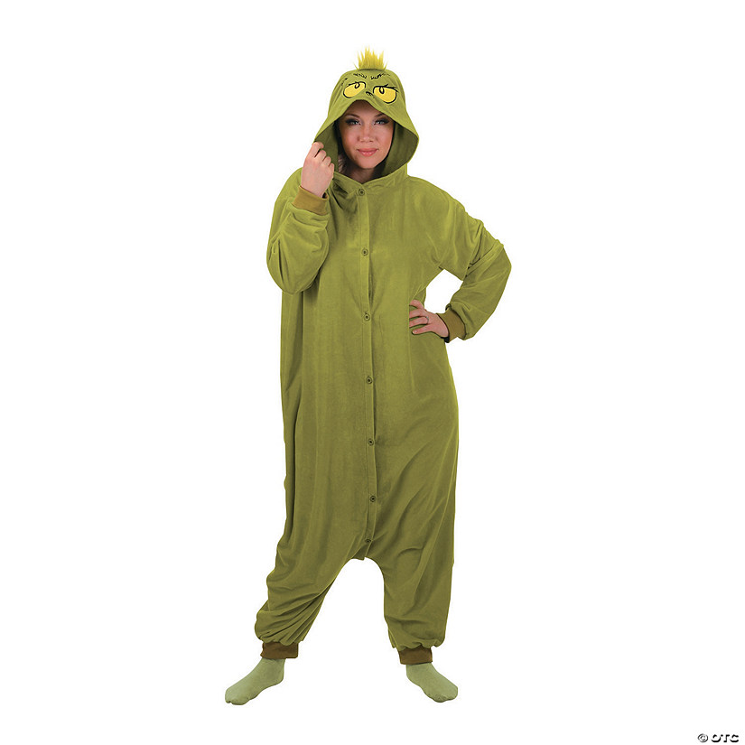 Adult's Dr. Seuss™ The Grinch Kigurumi Pajamas Audio Thumbnail