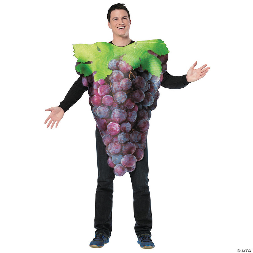 Adult's Get Real Bunch of Purple Grapes Costume Image Thumbnail