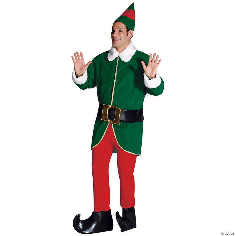 Adult's Green & Red Elf Costume