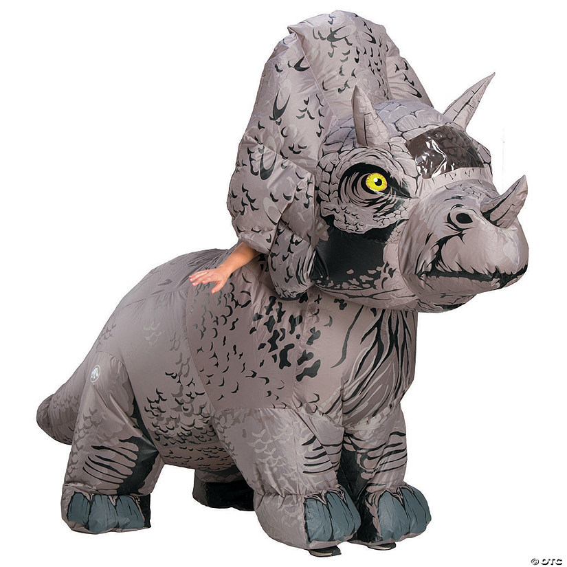 Adult's Jurassic World: Fallen Kingdom™ Inflatable Triceratops Costume Audio Thumbnail