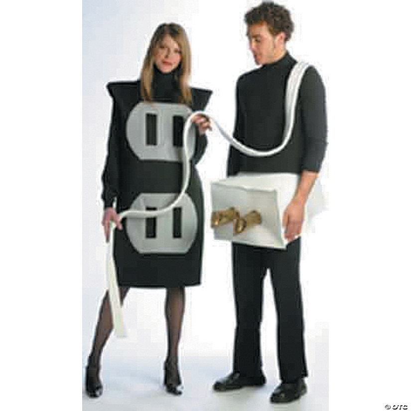 Adult's Plug & Socket Couples Costumes Image Thumbnail