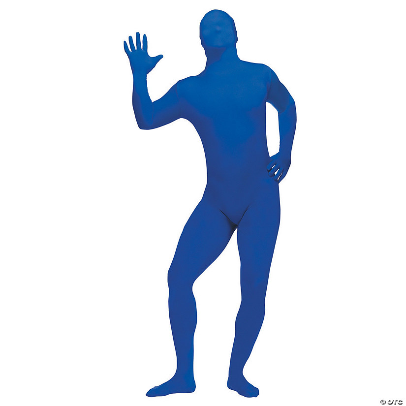 Adult's Plus Size Blue Skin Suit Costume
