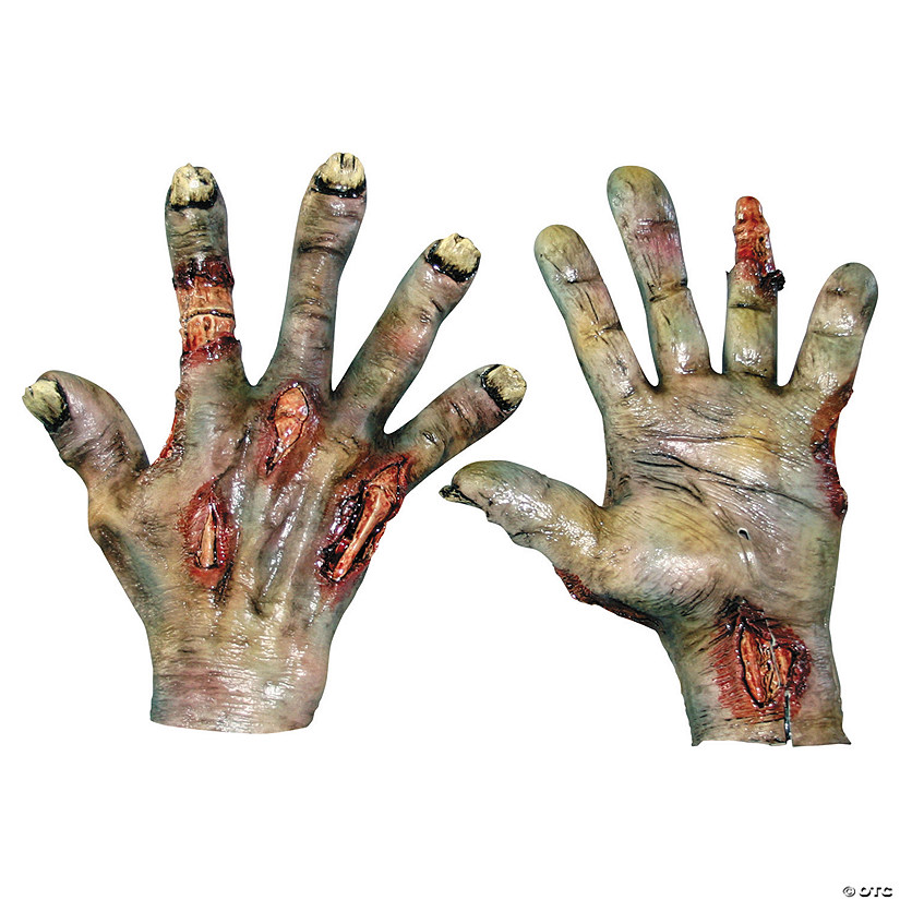 Adult's Rotted Zombie Hands