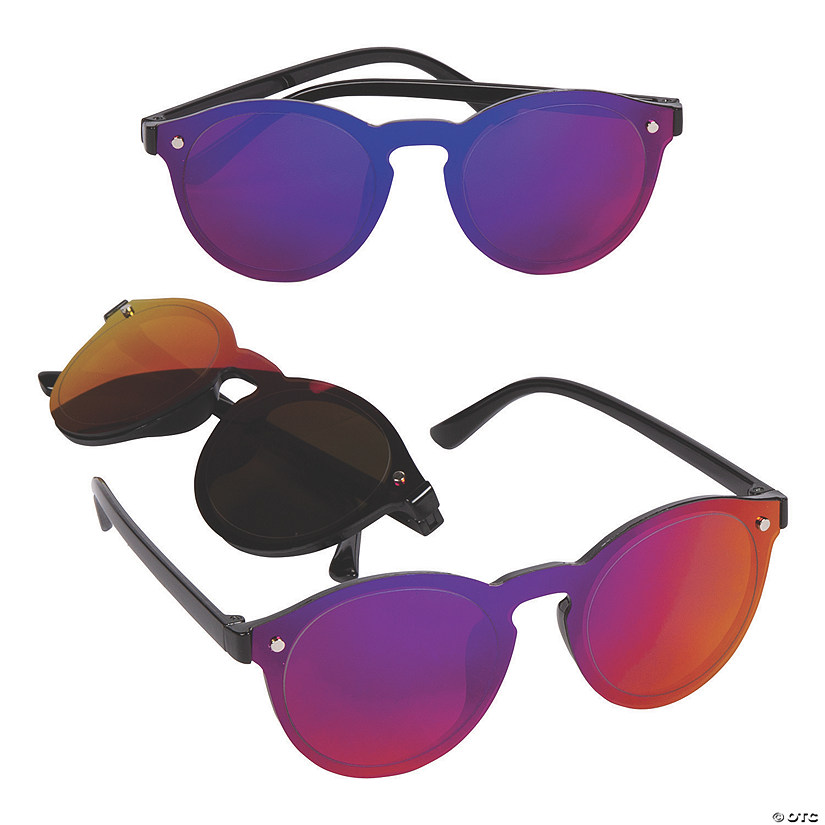 Adult's Round Mirrored Sunglasses Image Thumbnail