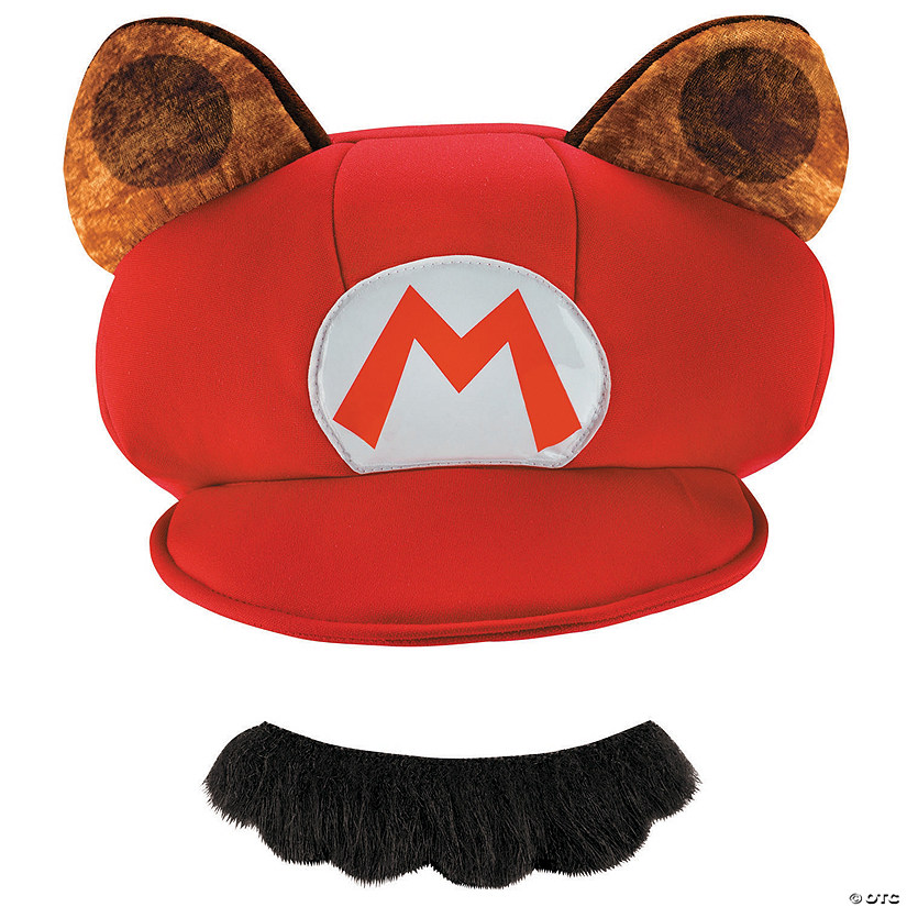 Adult's Super Mario Raccoon Hat & Mustache Audio Thumbnail
