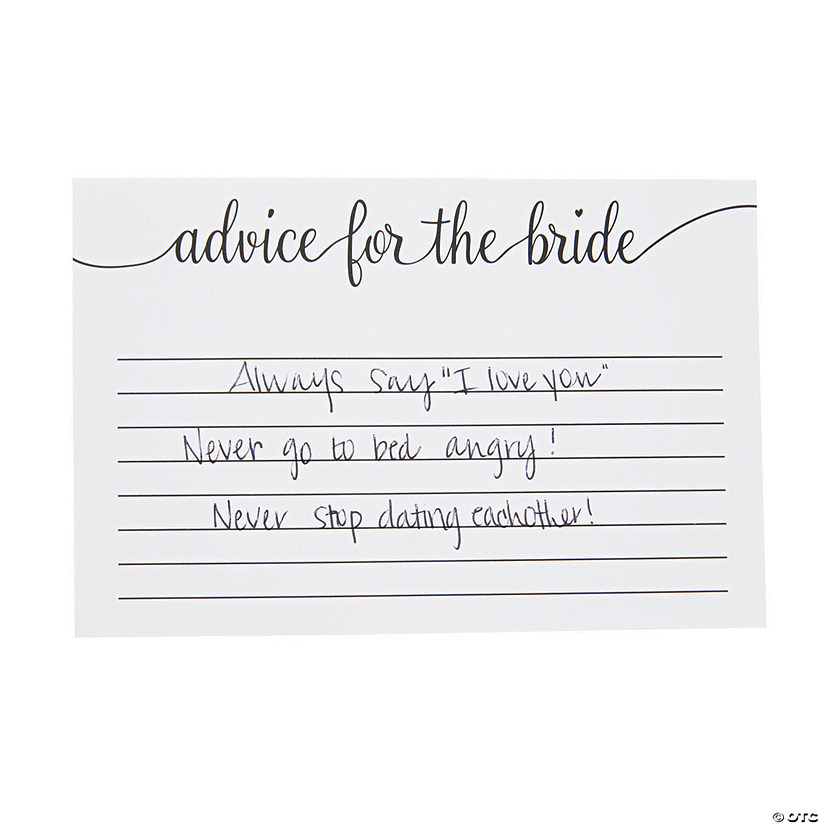 Advice for the Bride Bridal Shower Cards Image Thumbnail