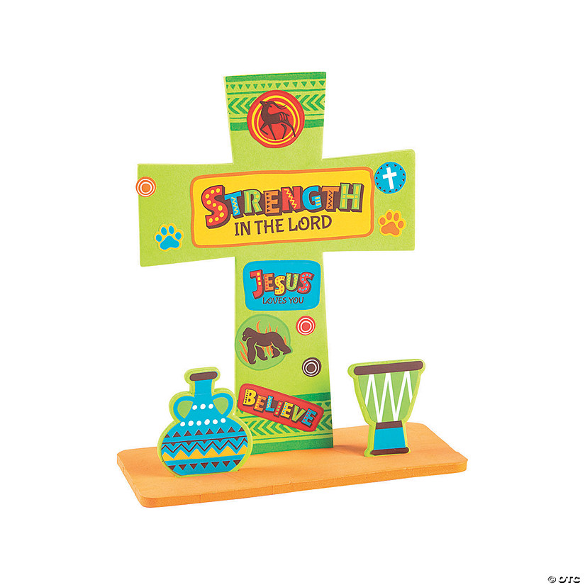 African Safari VBS Stand-Up Cross Craft Kit