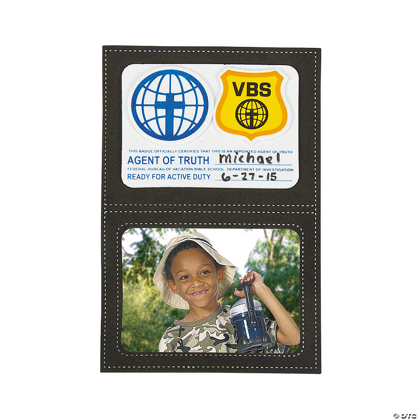 Agents of Truth Magnetic Picture Frame VBS Craft Kit - Less Than Perfect Image Thumbnail