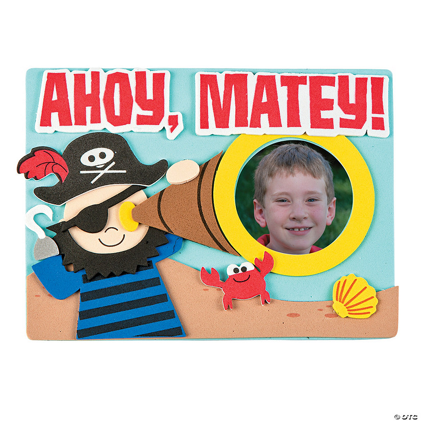 Ahoy Pirate Picture Frame Magnet Craft Kit Discontinued