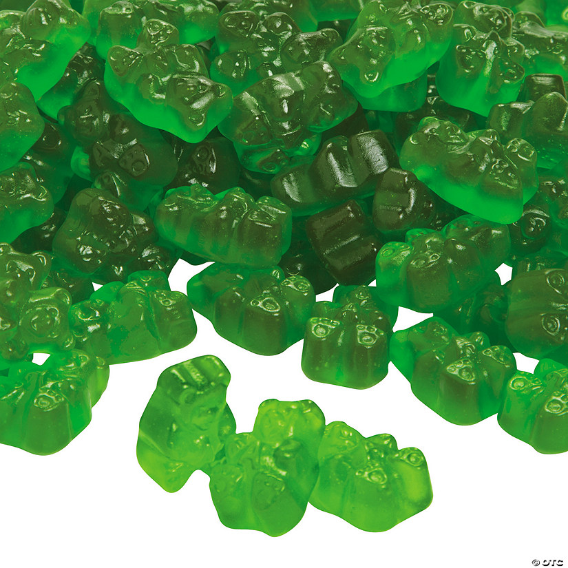 Albanese<sup>&#174; </sup>Gourmet Granny Smith Apple Gummy Teddy Bears Image Thumbnail