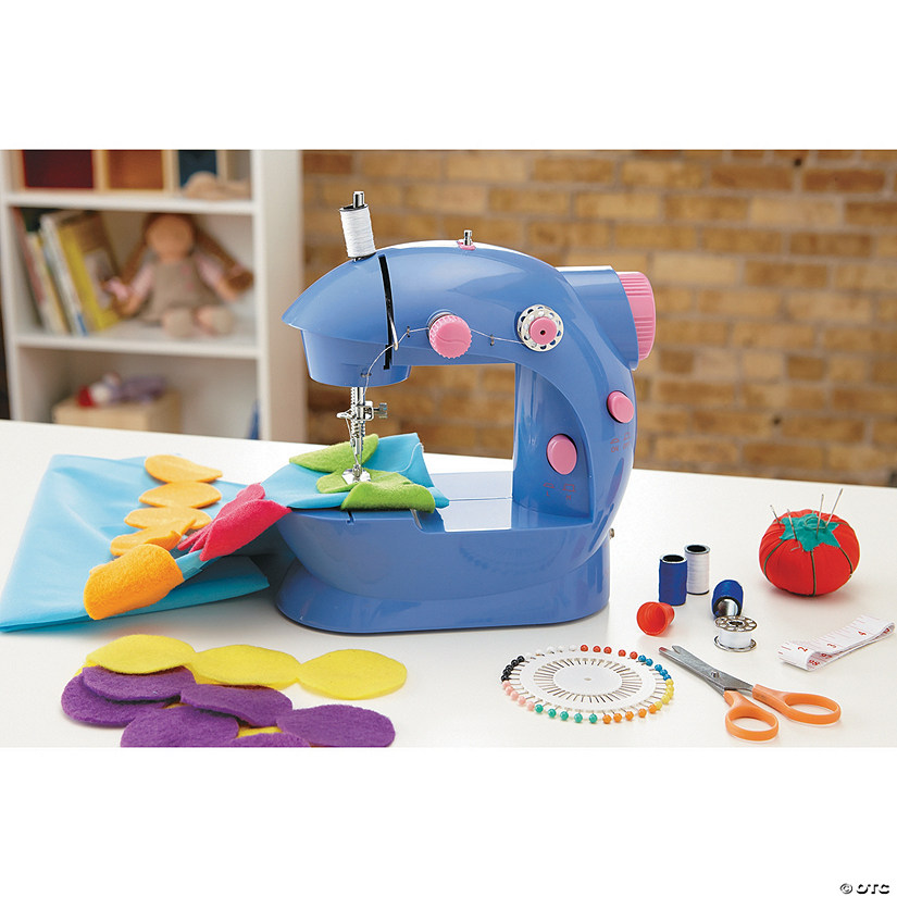 ALEX Toys Sew Fun Beginner Sewing Machine with Rainbow Dot Pillow Kit Image Thumbnail