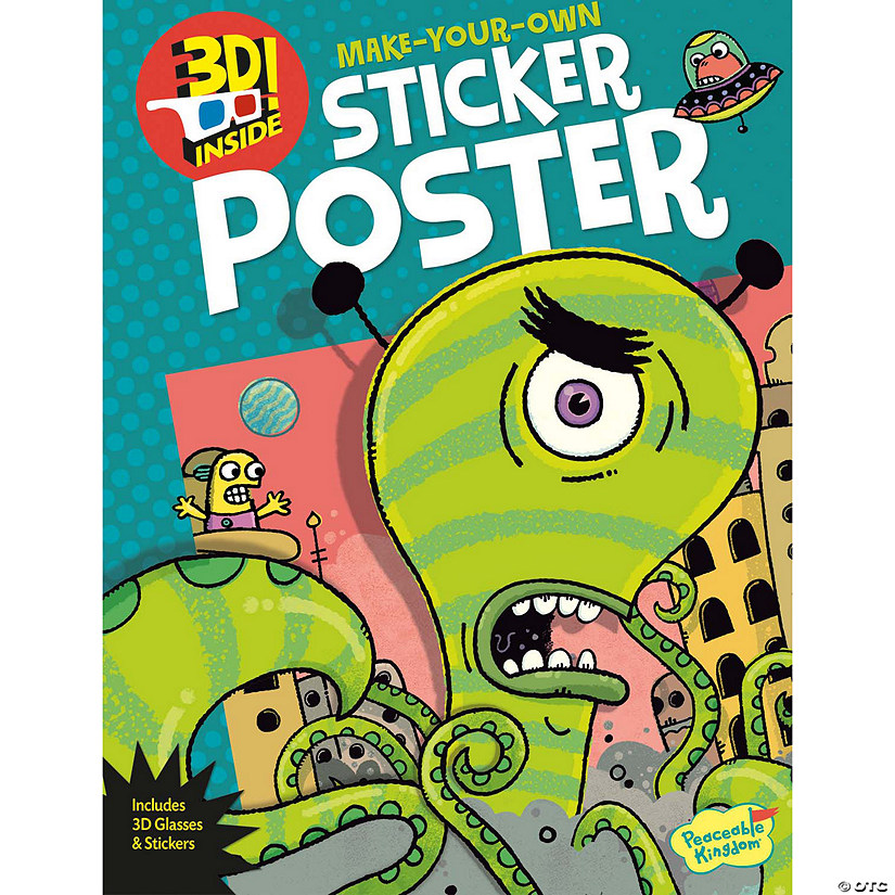 Alien Attack! 3D Poster Sticker Activity Book Audio Thumbnail