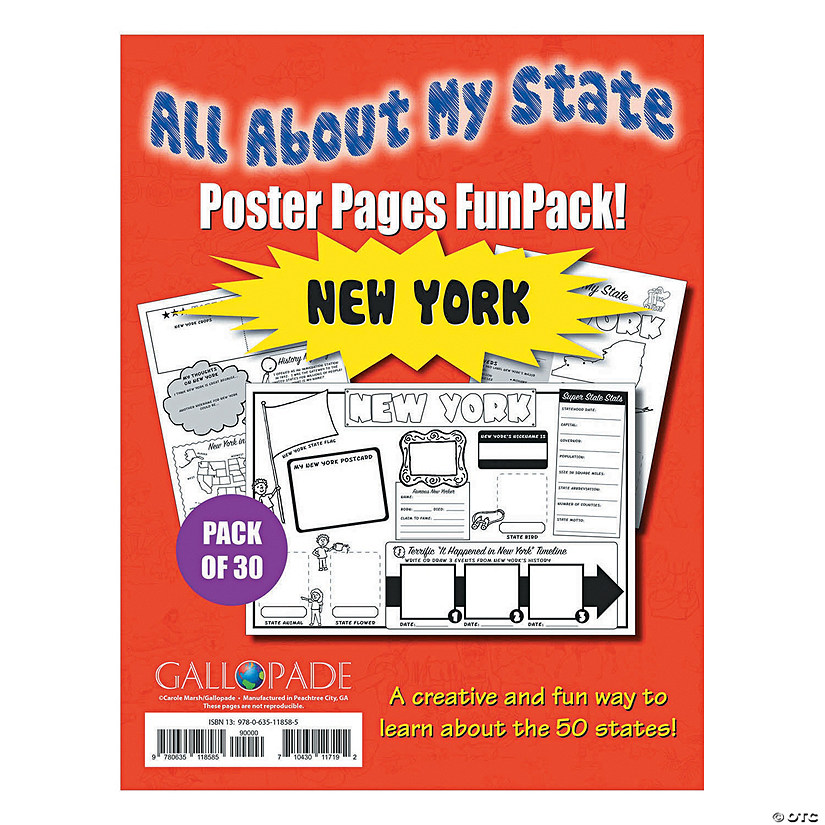 All About My State Fun Pack - New York