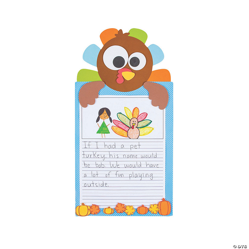 All About Turkeys Writing Prompt Craft Kit Image Thumbnail