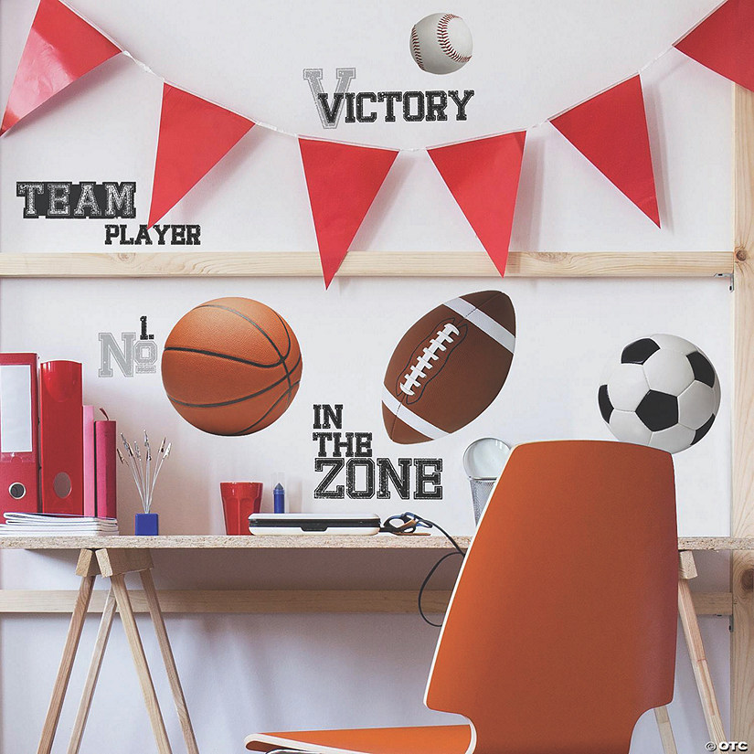 All Star Sports Saying Peel & Stick Wall Decals Audio Thumbnail