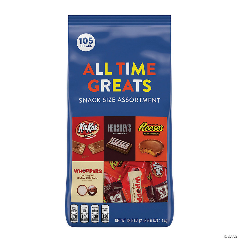 All Time Greats Snack Size Hershey Assortment, 38.9 oz, 105 Pieces Audio Thumbnail