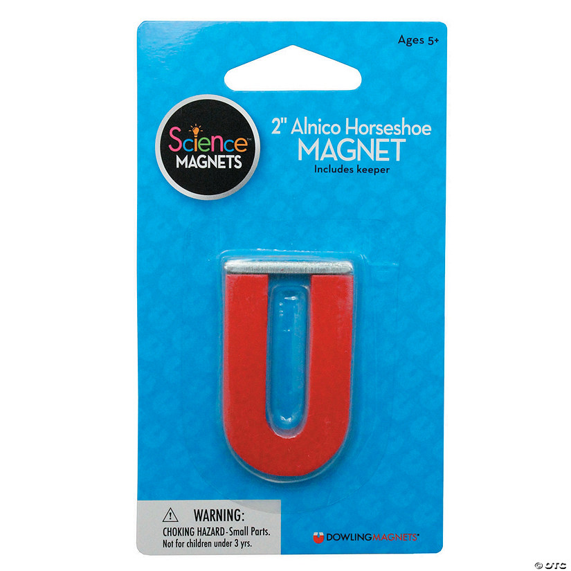 Alnico Horseshoe Magnet, 2 inch, pack of 6