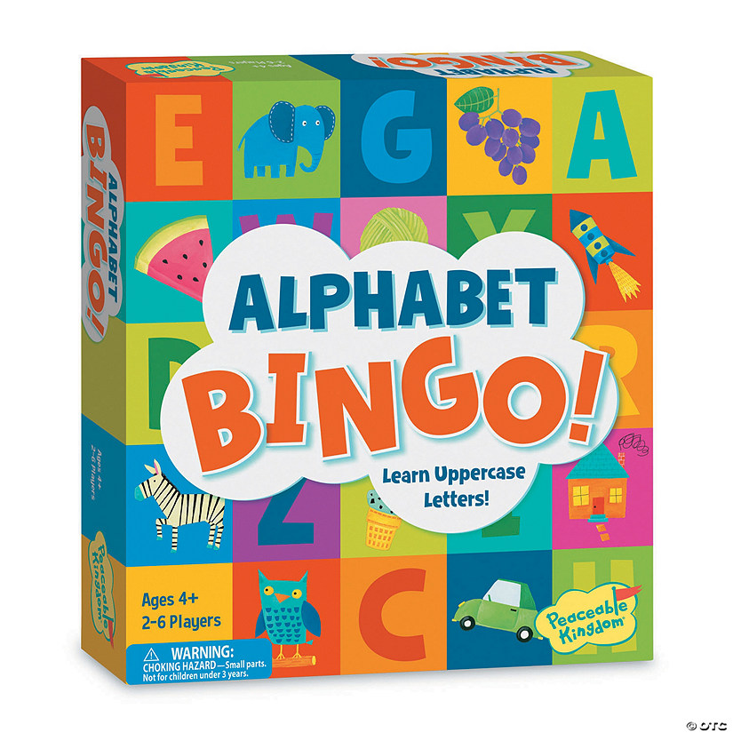 Alphabet Bingo Board Game Image Thumbnail