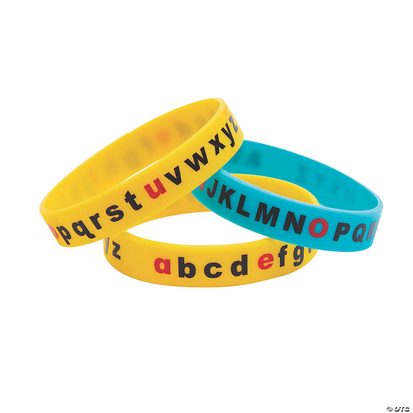 Alphabet Recognition Silicone Bracelets Audio Thumbnail