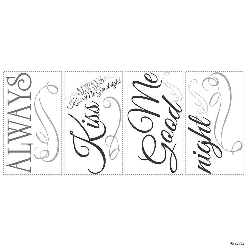 Always Kiss Me Goodnight Peel & Stick Wall Decals Audio Thumbnail