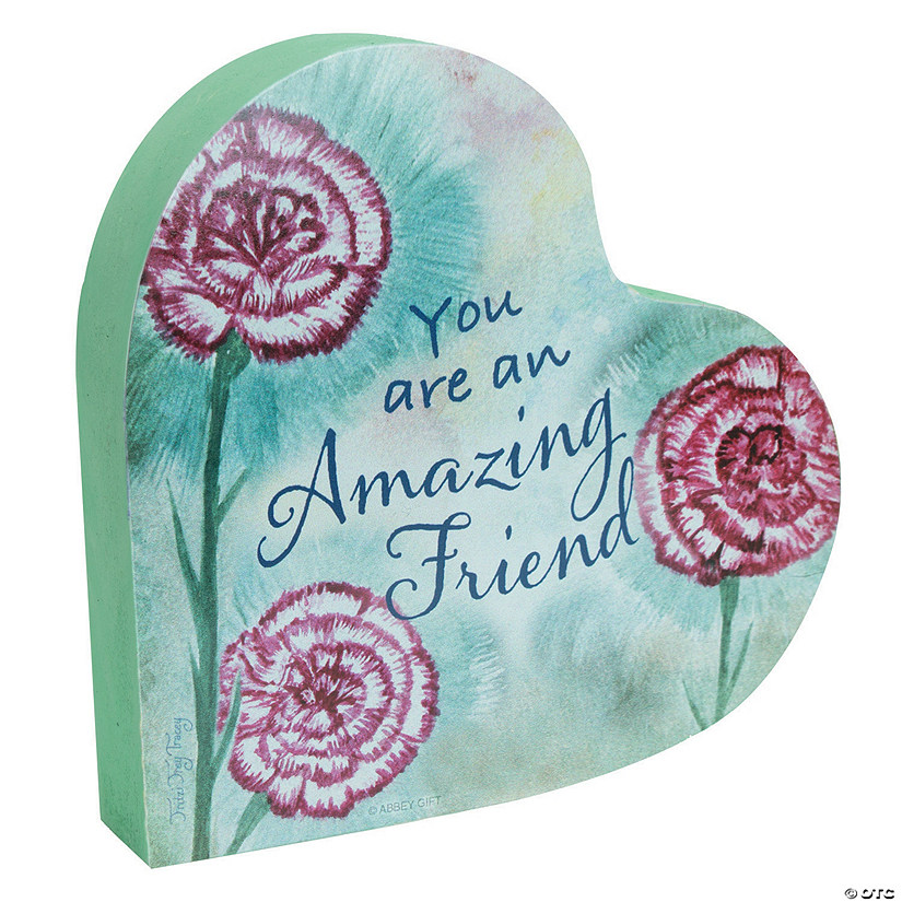 Amazing Woman™ Friend Heart Plaque Audio Thumbnail