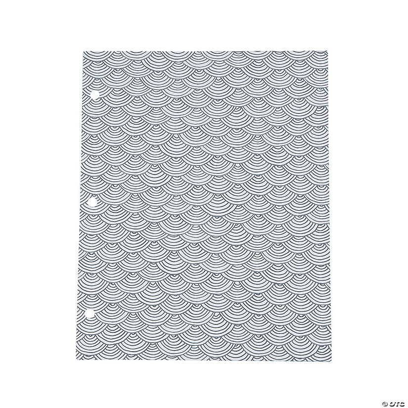 American Crafts™ Adult Coloring Scallop Pocket Folders