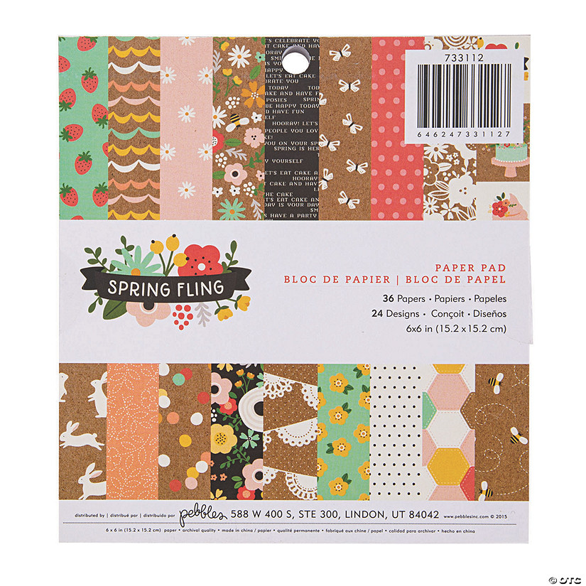 American Crafts™ Pebbles Spring Fling Paper Pad Audio Thumbnail