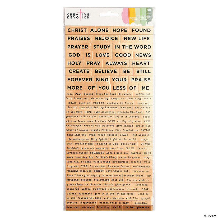 American Crafts™ Religious Word Stickers Audio Thumbnail