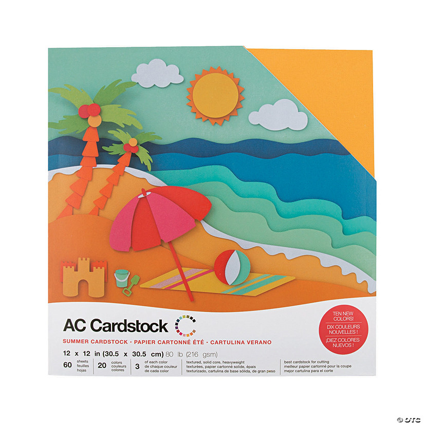 American Crafts Summer Cardstock Variety Pack Audio Thumbnail