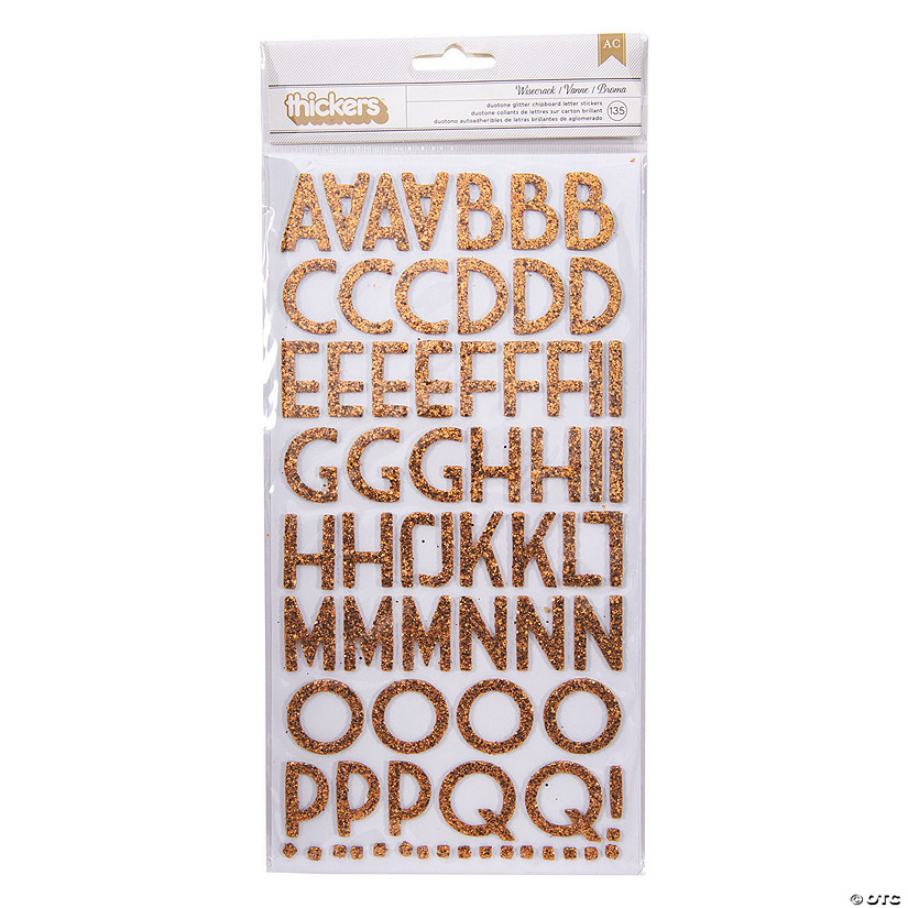 American Crafts™ Thickers™ 3D Wisecrack Gold Glitter Alphabet Stickers Audio Thumbnail