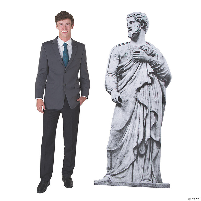 Ancient Greek Garden God Statue Cardboard Stand-Up Audio Thumbnail
