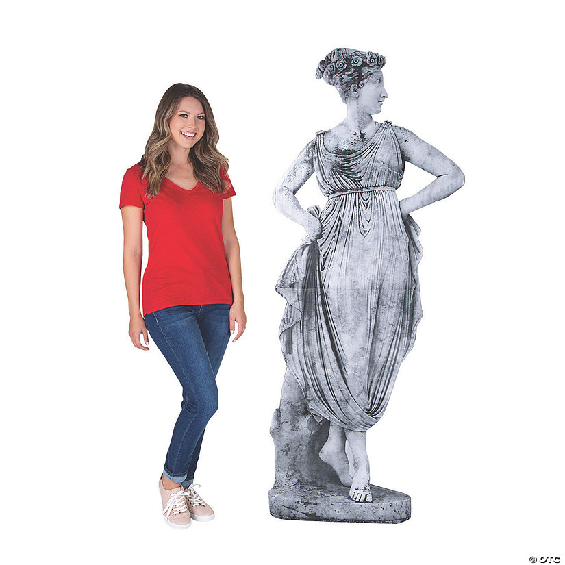 Ancient Greek Goddess Garden Statue Cardboard Stand-Up Audio Thumbnail