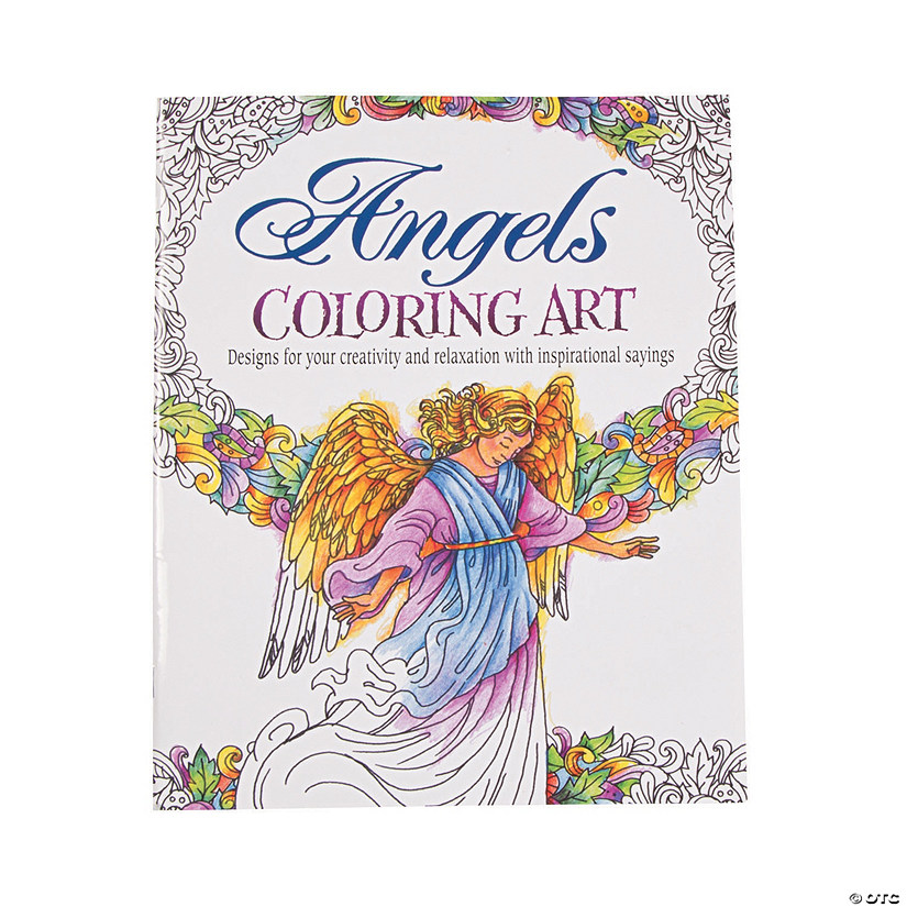 Angels Inspirational Adult Coloring Book