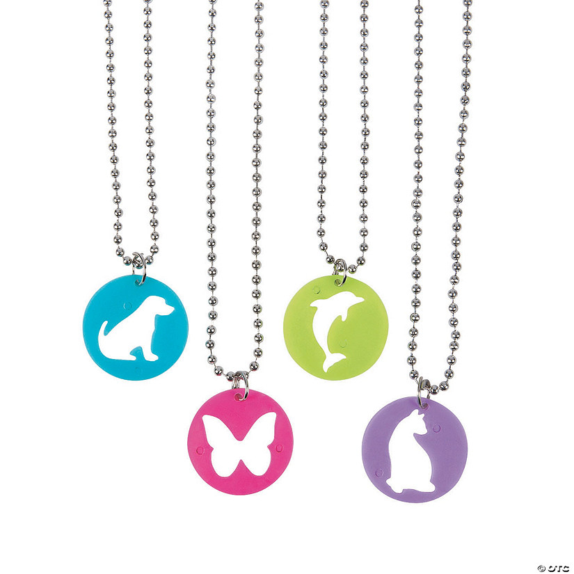 Animal Cutout Necklaces