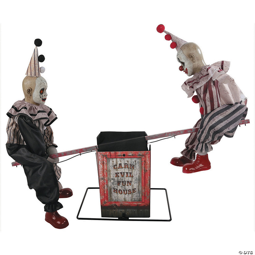 Animated See-Saw Clowns Halloween Decoration Audio Thumbnail