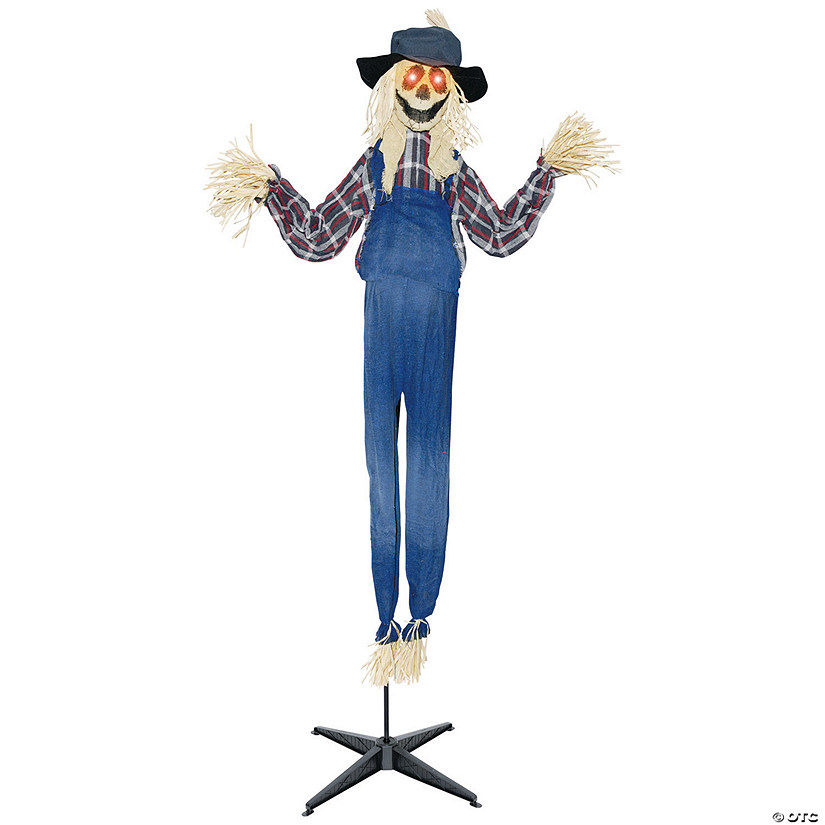 Animated Standing Scarecrow Halloween Decoration Image Thumbnail