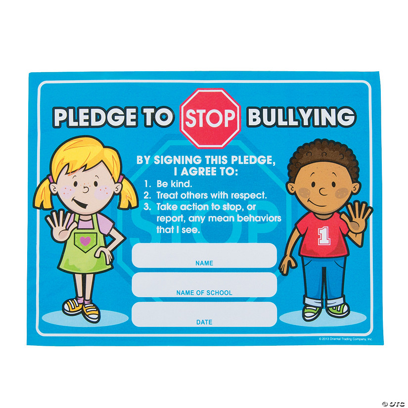 Anti-Bully Pledge Certificates