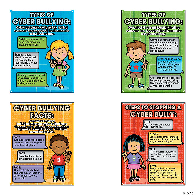 anti cyber bullying poster set discontinued