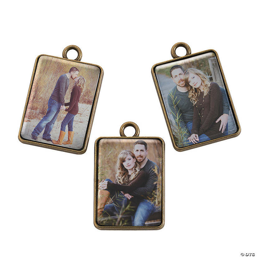 Antique Goldtone Photo Charms - 25mm